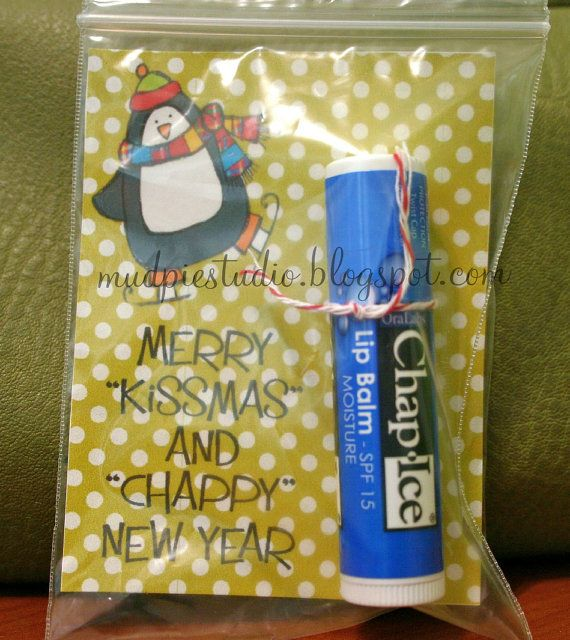 Merry Kissmas and Chappy New Year - Christmas gift digital tag