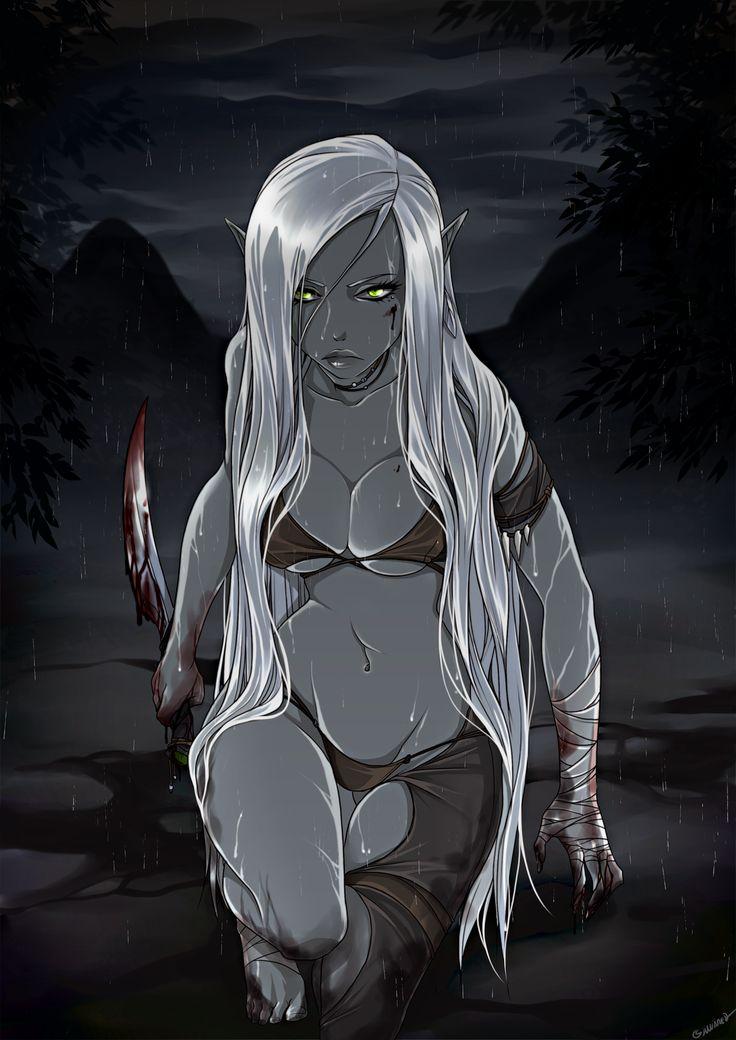 Fantasy nudes elf vampire assassin pity