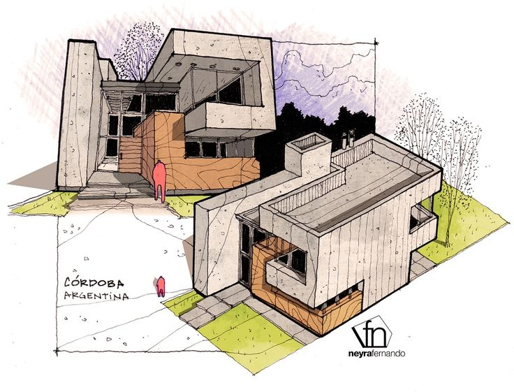 Architectural flow surrealist home illustrations by neyra