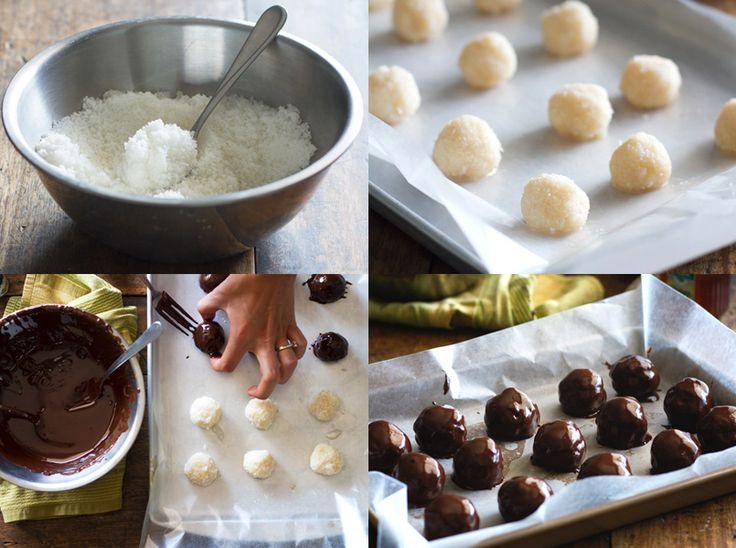 Dulces de Navidad: Bolitas de coco chocolateadas - Recetín