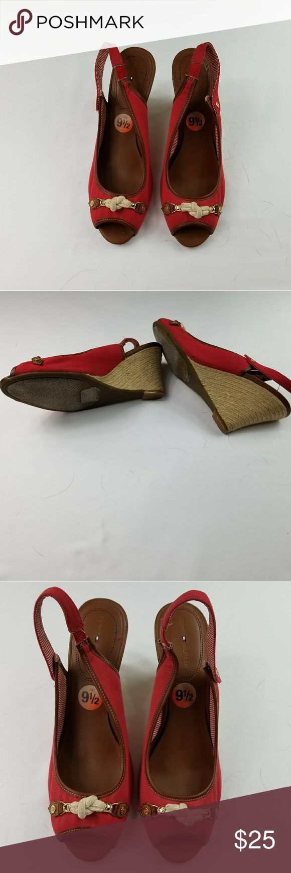Tommy Hilfiger Nautical Wedge Sandals Tommy Hilfiger Nautical Wedge Sandals. EUC. Very comfortable.  Great addition to your spring and summer wardrobe. Tommy Hilfiger Shoes Sandals