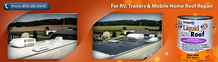 liquid roof coating is used to repair an existing EPDM or rubberized roof. #LiquidRoofRepair, #LiquidRoofRepairCoatings,#LiquidRoofRV  http://liquidroofrvrepair.com/how-can-i-fix-my-rvs-leaky-roof.html