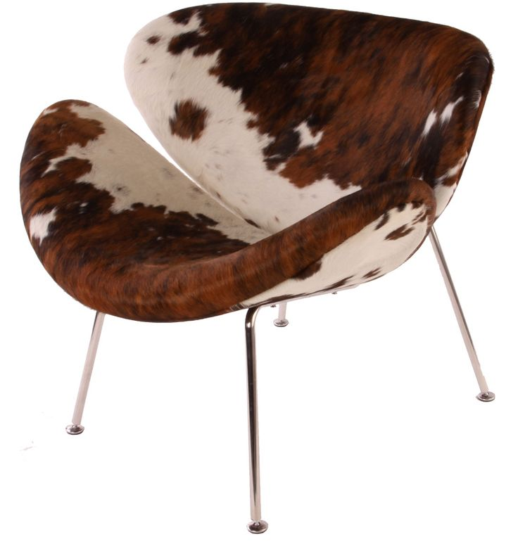The Matt Blatt Replica Pierre Paulin Orange Slice Chair - Cowhide by Pierre Paulin - Matt Blatt