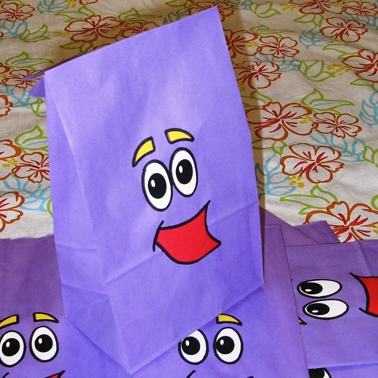Dora Birthday Party Treat Sacks Backpack Favor Bags by jettabees on Etsy. $12.50, via Etsy.