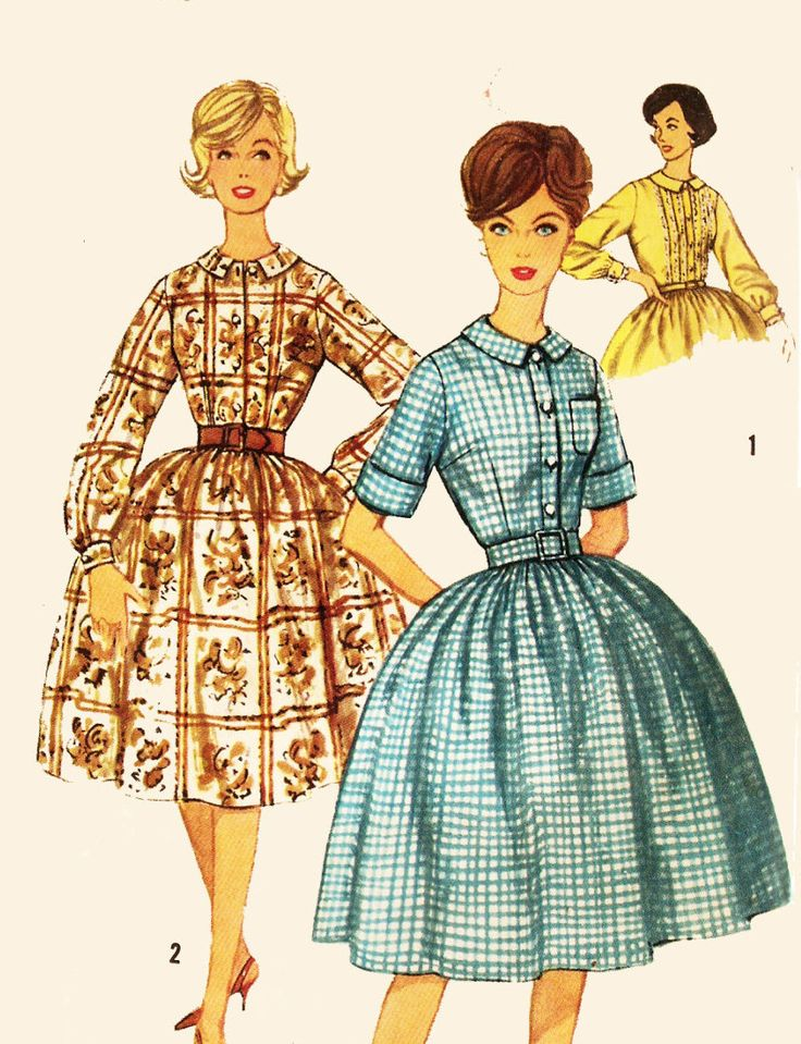 Simplicity 3513 Juniors' Vintage 1960s Shirtdress Sewing Pattern by DRCRosePatterns on Etsy