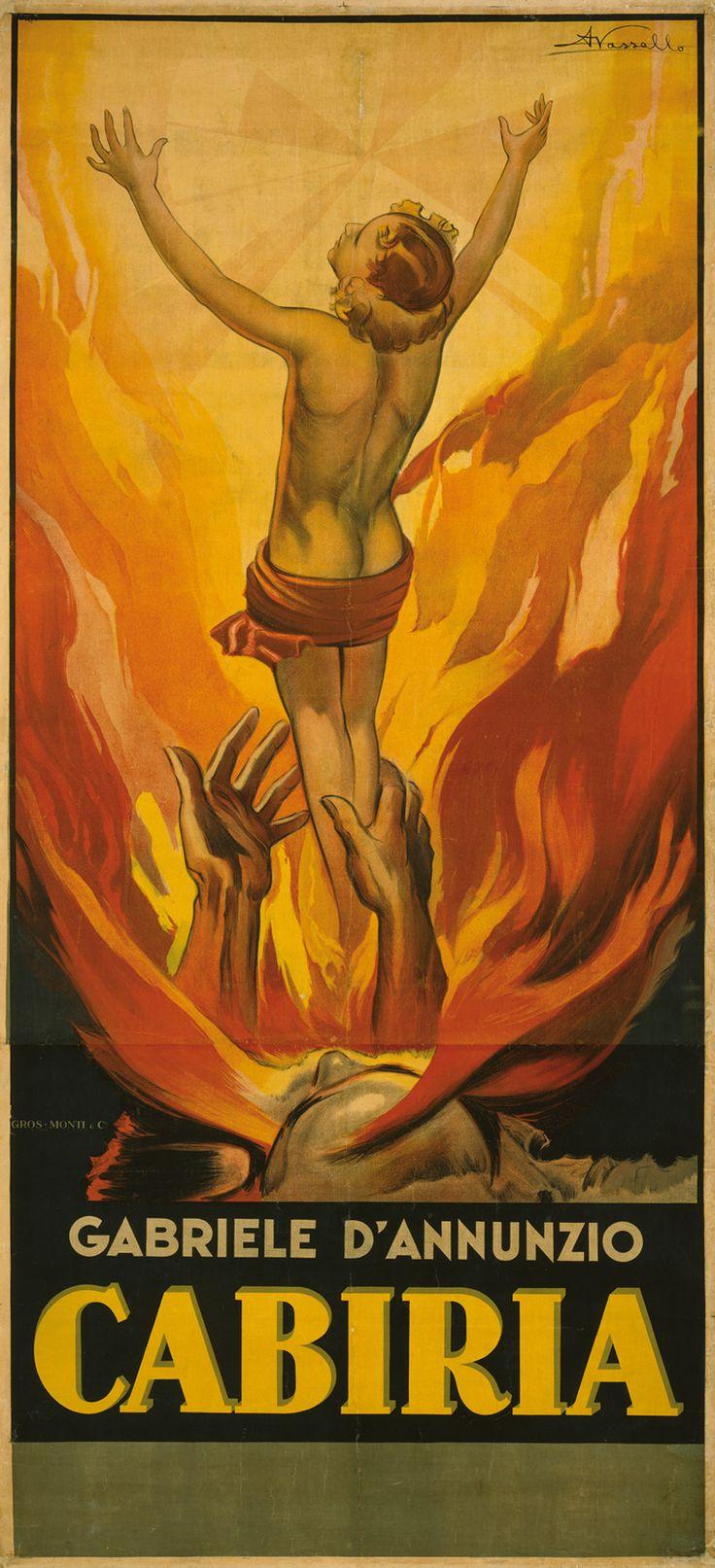 Manifesto litografico di Armando Vassallo per l'edizione sonorizzata, senza data (1931). Proprietà della Regione Piemonte, in comodato al Museo Nazionale del Cinema