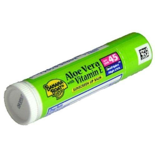 Banana Boat Sunscreen Lip Balm SPF 45 - Aloe Vera Case Pack 24 ** You can find out more details at the link of the image.