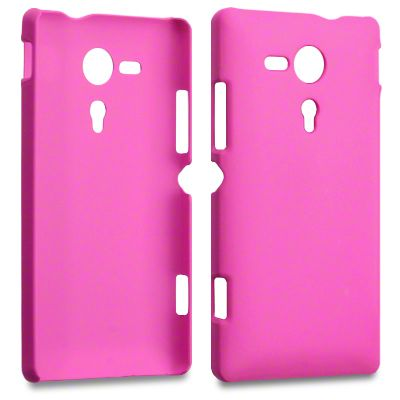 Rubber Plastic Case Pink (Sony Xperia SP M35h/c5302/c5303) - myThiki.gr - Θήκες Κινητών-Αξεσουάρ για Smartphones και Tablets - Χρώμα σκούρο ροζ