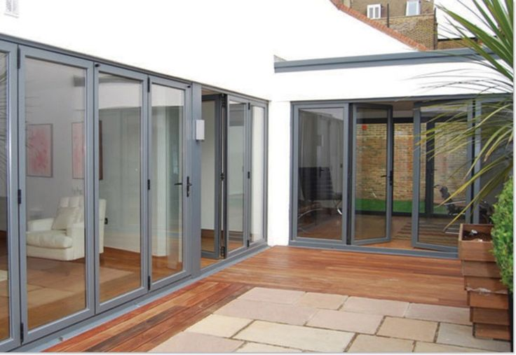 pale grey bifold doors - Google Search