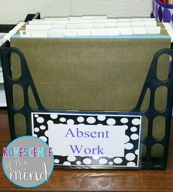 Arranging Absent work to Allow Students Access