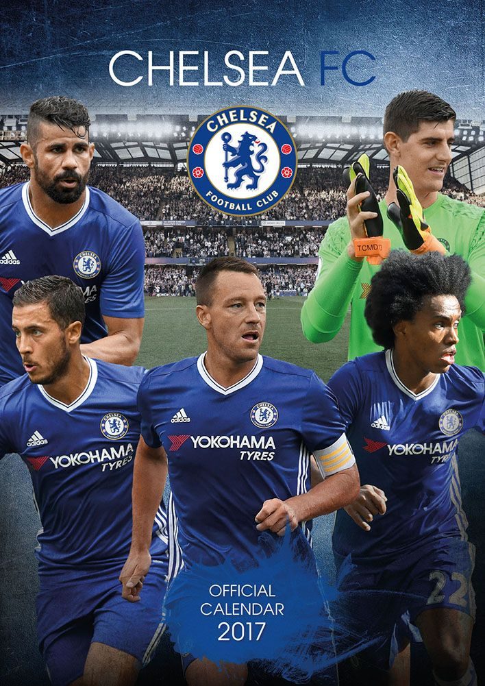 Official Chelsea 2017 Calendar now available for only £8.99 and Free UK Delivery (Worldwide Delivery also available) at http://bit.ly/FootballCals2017