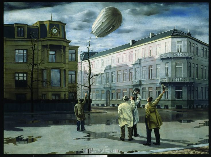 """De zeppelin (The Zeppelin)"", 1933 / Carel Willink (1900-1983) / Private Collection"
