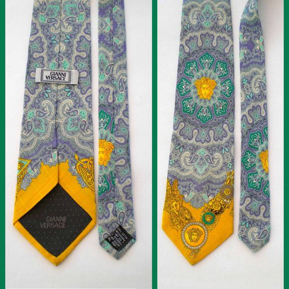 Versace Necktie.Made in Italy. Gianni Versace silk tie.