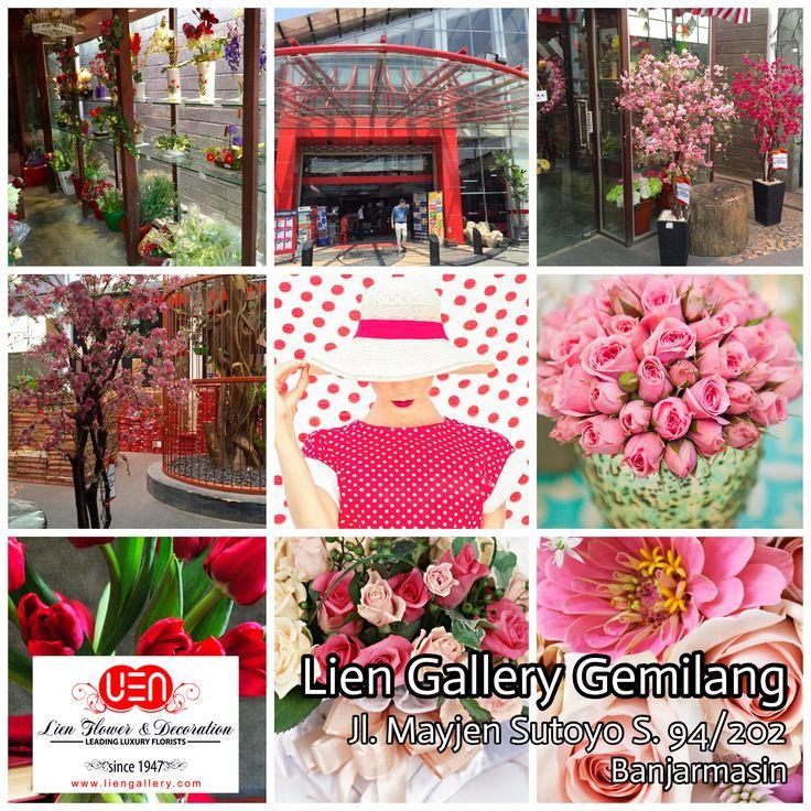 "Opening soon ""Lien Gallery Gemilang"" on 5 October 2015. Address: Jl. Mayjen Sutoyo S. No 94/202 Banjarmasin 70117 - Indonesia www.Liengallery.com  ___________________  Segera dibuka Toko Bunga ""Lien Gallery Gemilang"".  Dibuka tgl 5 Oktober 2015. Alamat: Jl. Mayjen Sutoyo S. No 94/202 Banjarmasin 70117 - Indonesia www.LienGallery.com  (Di dalam toko Gemilang di kota Banjarmasin - www.gemilang-store.com)"