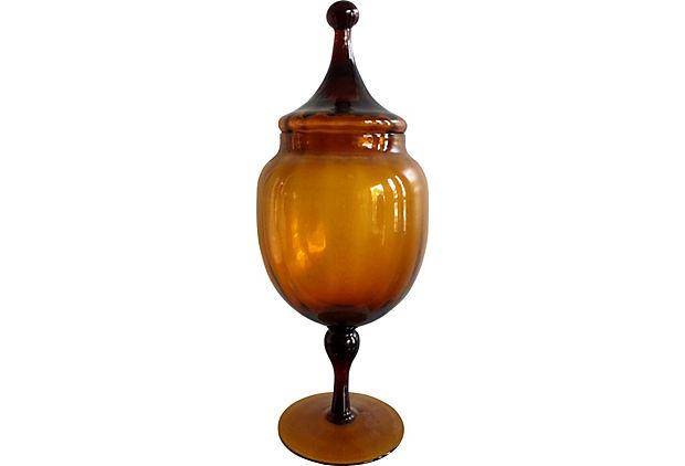 Tall Root-Beer Brown Apothecary Jar on OneKingsLane.com