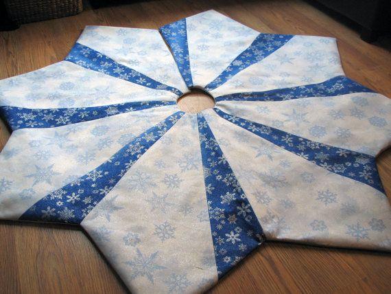 596 Best Tree Skirts Images On Pinterest Christmas Tree Skirts  - Blue Christmas Tree Skirt