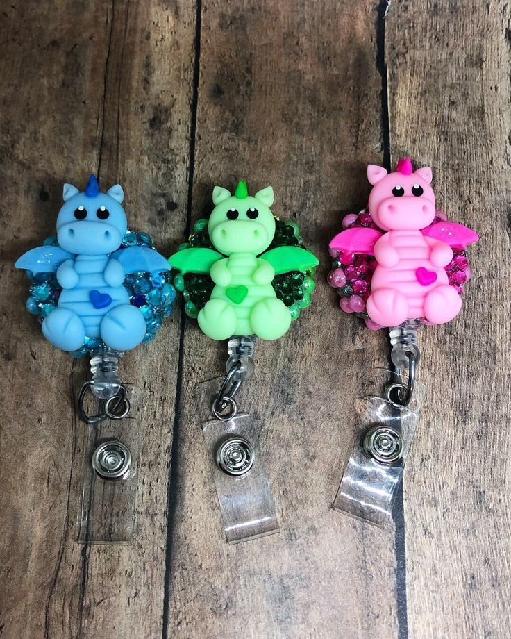 Baby Dragons of Love ID Badge Reels-Retractable Nursing ID