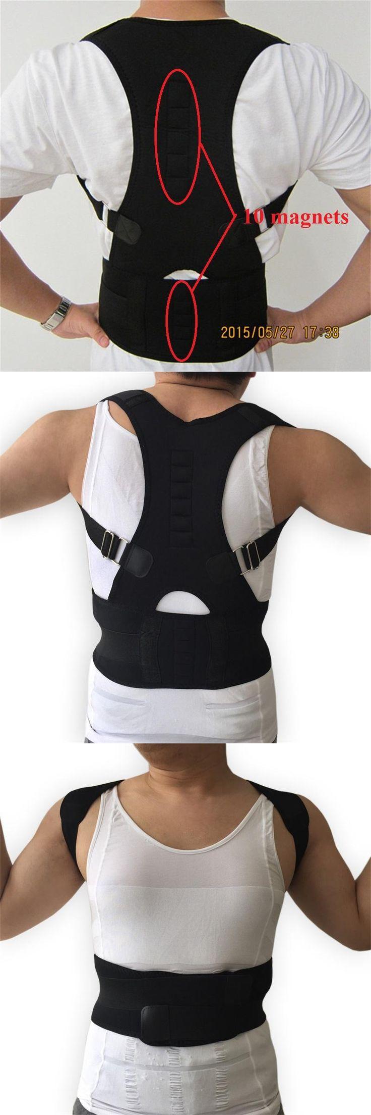 [Visit to Buy] HEALTH CARE Men's Lumbar Support Belt Strap Back Posture Corrector Back Braces Belts Posture Corset for Men AFT-B002 #Advertisement
