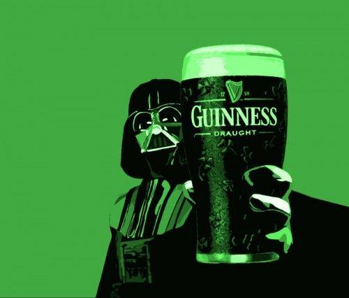 Welcome to the dark side of the beer..: Darth Vader, Beer, Guinness, Saint Patricks Day, St Patricks Day, Dark Side, Stars Wars, Drinks, Starwars