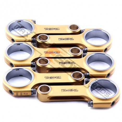 High Performance Porsche 911 2.0L 2.2L 6 Cylinder Titanizing H-Beam Connecting Rods & Conrods