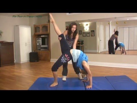 How To Do A Bridge And Backbend Kickover With Coach Meggin (Professional Gymnastics Coach) - YouTube