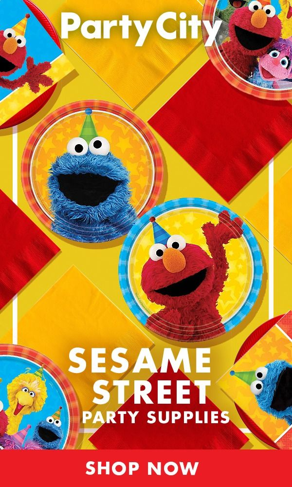Party City Has What You Need To Throw This Year S Sesame Street Birthday Party Sesame Street Birthday Sesame Street Birthday Party Sesame Street Party Supplies