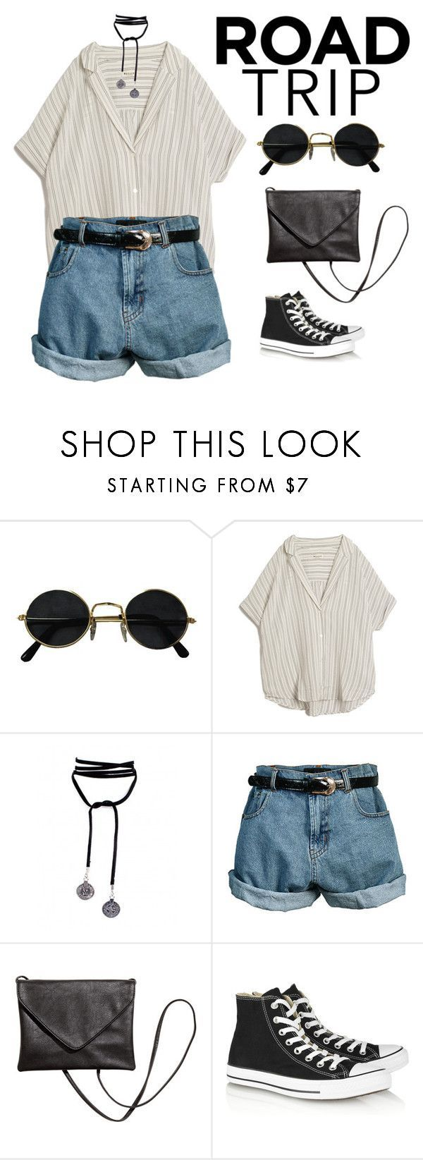 """""""road trippin"""" by aintnoloveydovey ❤ liked on Polyvore featuring MASSCOB, Lamoda, Retrò and Converse"""