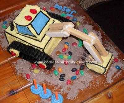digger birthday cake instructions