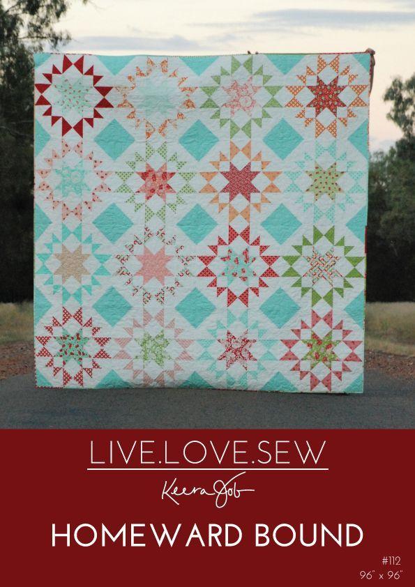 Homeward Bound {a New Quilt Pattern} - LIVE.LOVE.SEW Pattern Co