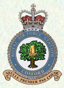 RAF Cosford Station badge, is a Royal Air Force station in Shropshire, just to the northwest of Wolverhampton and next to Albrighton. RAF Cosford opened in 1938 as a joint aircraft maintenance, storage and technical training unit. It has remained mainly a training unit to this day.