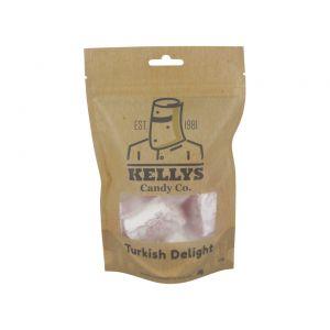 A bulk box of Kellys Turkish Delight Dark Chocolate Bags.