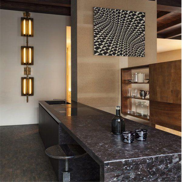 Plan de travail cuisine en marbre, marble kitchen