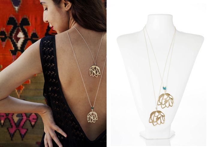 Desert rose adjustable necklace from 'The Fall' collection