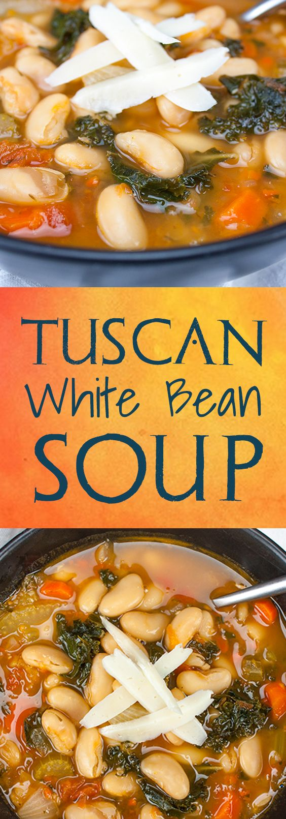 Tuscan White Bean Soup - Easy 30 minute meal. So warm, satisfying and healthy!