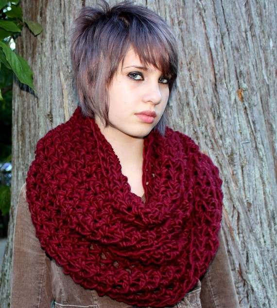 neck scarf with extra stitching the cobblestone cowl color wood and ...