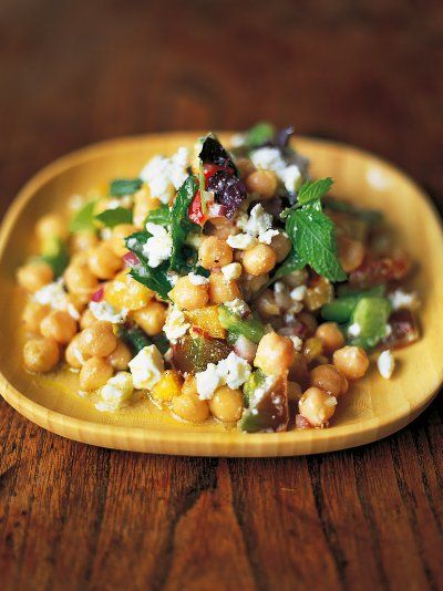 Part of the fun with this chickpea salad recipe is that you can make it up as you go along by adding different spices, herbs, chilli, cheese and more.
