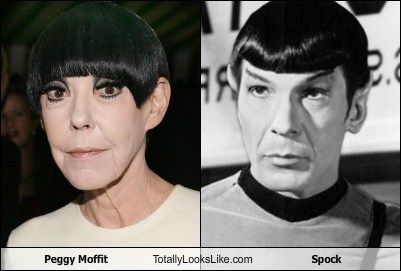 Peggy Moffit totally looks like Spock. She always looked like Spock, actually. :)