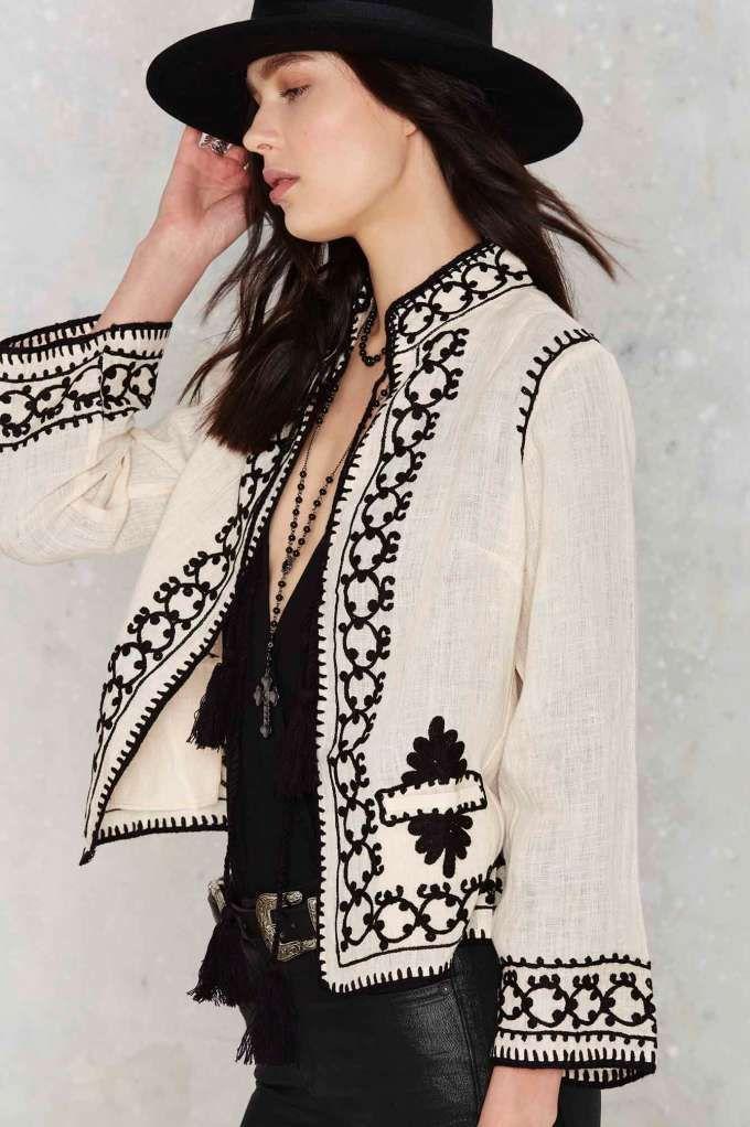 Raga Mika Embroidered Jacket - Clothes