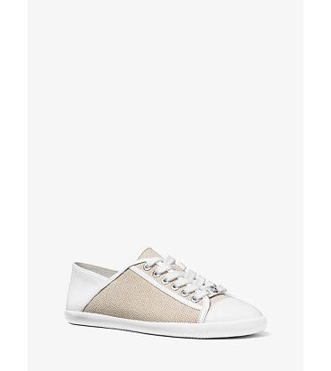 Kristy Canvas And Leather Sneakers by MICHAEL Michael Kors.