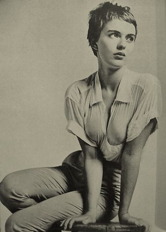 Jean Seberg   This is something kin to what I expect when I get my hair trimmed.  And never do I like what I get.
