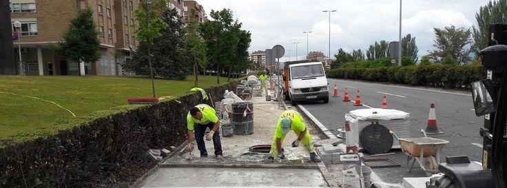 Instalado en Pamplona un pavimento que reduce la contaminación. El proyecto LIFE+RESPIRA, liderado por la Universidad de Navarra, persigue mejorar la calidad del aire