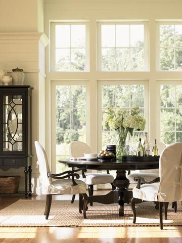 ... DiningRooms on Pinterest  Dining rooms, Slipcovers and Round tables