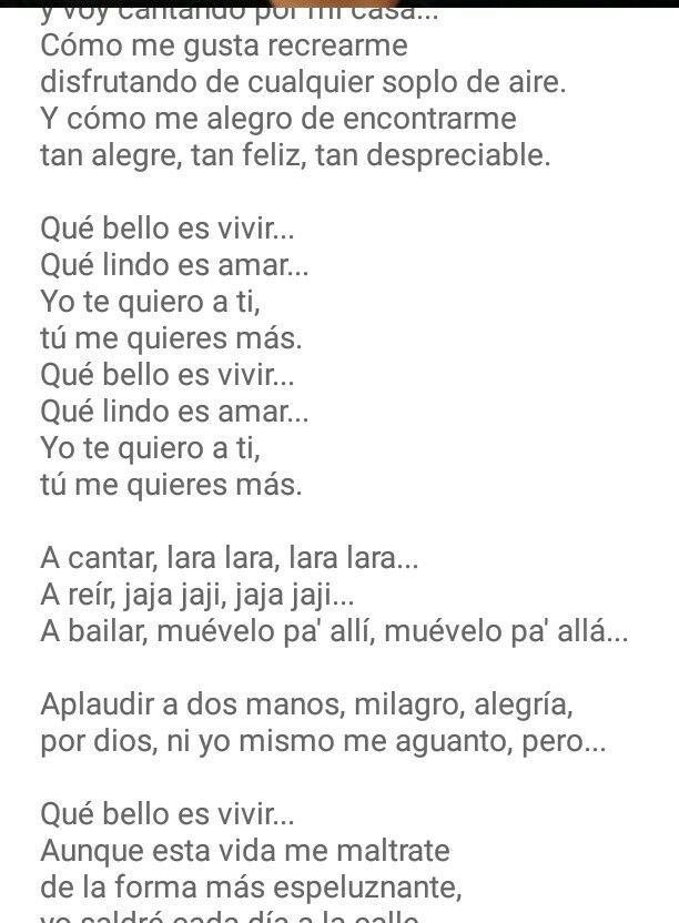 El Kanka Que Bello Es Vivir 2 Te Amo Como Eres Que Bello Es Vivir Letras De Canciones