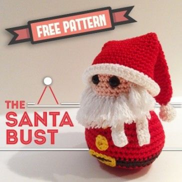 free pattern the santa bust