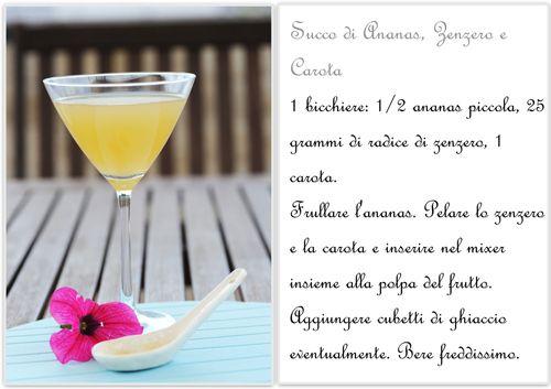 Succo di Ananas Zenzero e Carota con Ananas in Sfoglia. Un dolcetto e una bibita iperlight! – La Cucina Psicola(va)bile di Iaia & Maghetta Streghetta