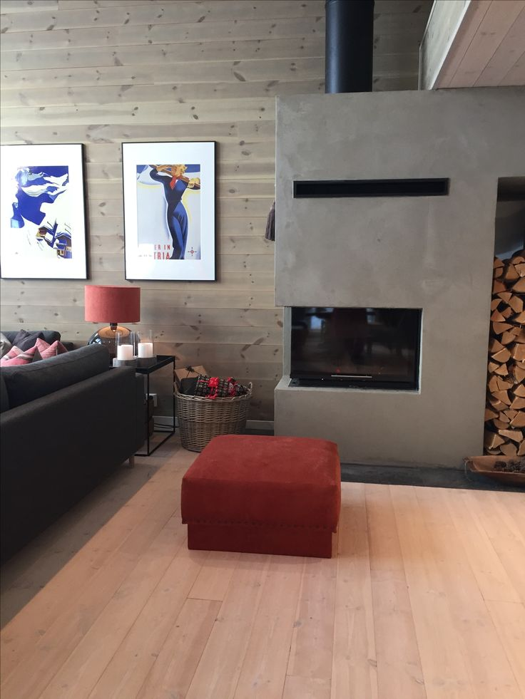 Norwegian cabin, fireplace