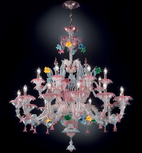 Ca' Rezzonico lustre en verre authentique de Murano Topdomus modèle Tiziano