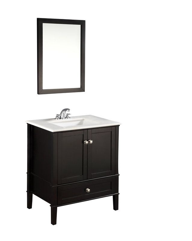 """View the Simpli Home NL-ROSSEAU-ES-30-2A Chelsea 30"""" Bathroom Vanity Cabinet - Includes Countertop and One Sink at FaucetDirect.com."""