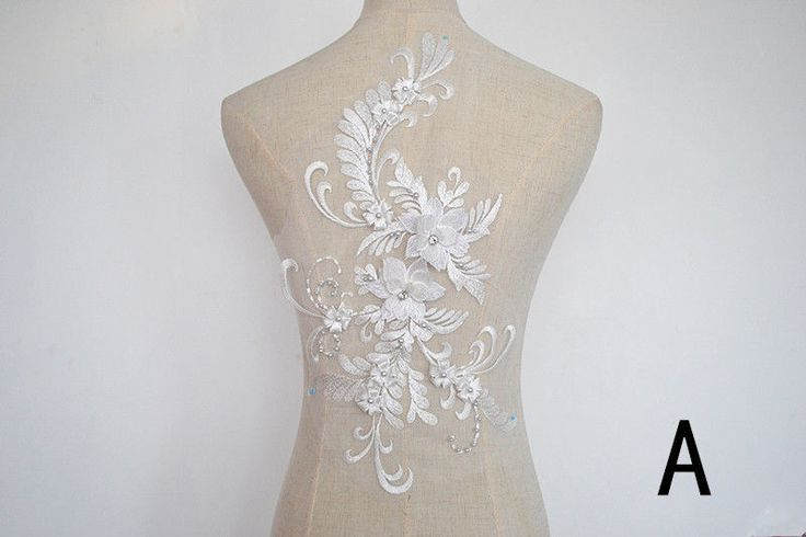Emborideried 3D flower applique with crystal ,elegant ,exquisite sewing trims