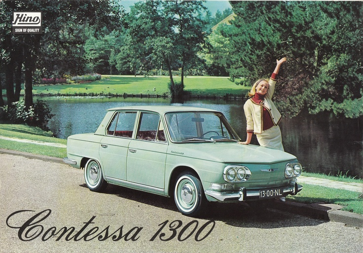 61-67 1.3L Hino Contessa. One of the 16 subsidiaries of the Toyota group.